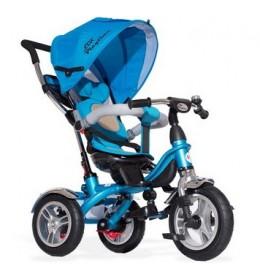 Tricikl 408 Playtime Lux sa rotirajućim sedištem plavi