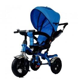 Tricikl 408 Happybike Lux sa rotirajućim sedištem plavi