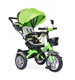 Tricikl 408 Happybike Lux sa rotirajućim sedištem zeleni