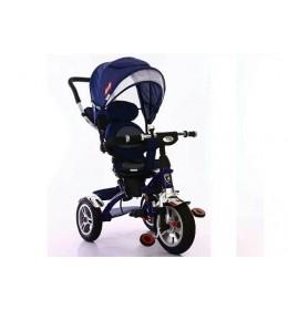 Tricikl 408 Playtime Lux sa rotirajućim sedištem tamno plavi