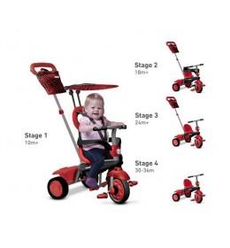 Tricikl Smart Trike Vanilla 4u1 crveni 10-36meseci