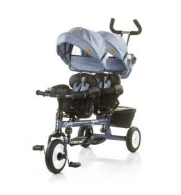 Tricikl za blizance Apollo Blue Indigo