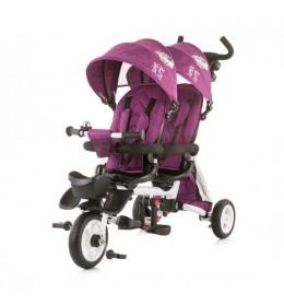 Tricikl za blizance Chipolino 2 Fun Amethyst