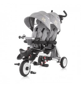 Tricikl za blizance Chipolino 2 Fun Grey
