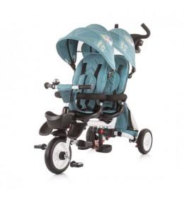 Tricikl za blizance Chipolino 2 Fun Ocean