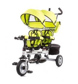 Tricikl za blizance Chipolino Apollo Lime