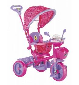 Tricikl za decu Play pink - zvučni i svetlostni efekti