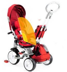 Tricikl za decu Tiger Mody Crveni - rotirajuće sedište
