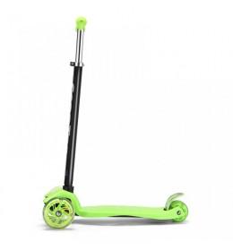 Trotinet za decu jednobojni sa svetlećim točkićima Zeleni