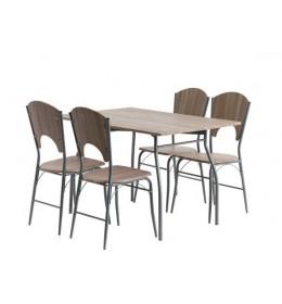 Trpezarijski sto Holm + 4 stolice (hrast)