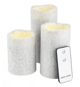 Ukrasne led sveće set 3 kom