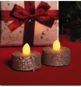 Ukrasne sveće sa srebrnim šljokicama CD2/SX