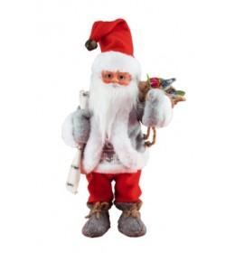 Ukrasni Deda Mraz koji pleše i svira od 30 cm KDD32