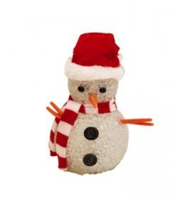Ukrasni sneško belić 12cm  sa šalom  KKD104