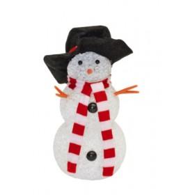 Ukrasni svetleći  sneško belić 17cm KKD107
