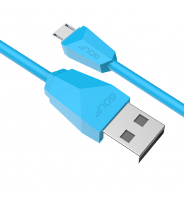 USB kabl na mikro usb 1m GOLF GC-27 plavi