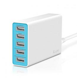 USB punjač sa 5 portova iLuv 5 Port Compact Sized Wall USB Charger