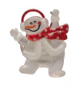 Veseli sneško novogodišnji ukras za prozor  KID322