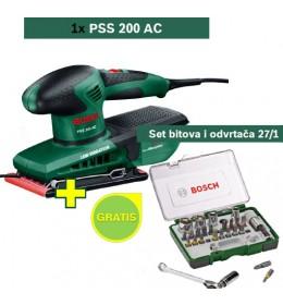 Vibraciona brusilica Bosch PSS 200 AC + Set bitova i odvrtača 27/1