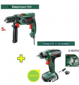 Vibraciona bušilica Bosch EasyImpact 550 + 1xEasyDrill 12 (u kutiji) GRATIS