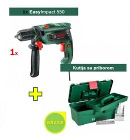 Vibraciona bušilica Bosch EasyImpact 550 5 kom + 1x Kutija sa priborom Gratis