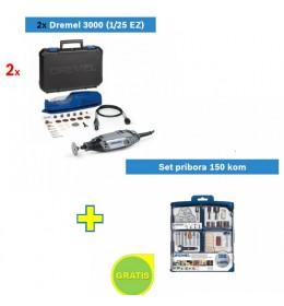 Višenamenski alat DREMEL 3000 sa 25 kom pribora 2 kom sa poklonom Set pribora