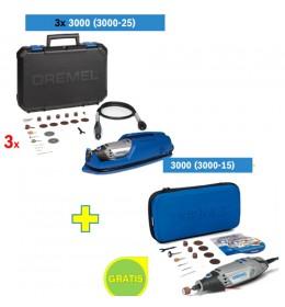 Višenamenski alat DREMEL 3000 sa 25 kom pribora 3kom + DREMEL 3000 sa 15 kom pribora