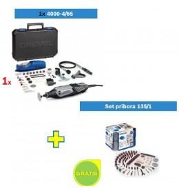 Višenamenski alat DREMEL 4000 sa 65 kom pribora + Set pribora 135/1 GRATIS