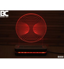3D lampa Vrtlog plavi