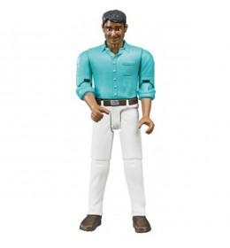 Figura čovek beli jeans Bruder