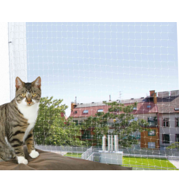 Zaštitna mreža za mačke 6 x 3 m bela providna