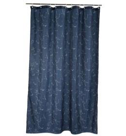 Zavesa za kadu plava sa belim zvezdama 150x200 cm