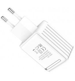 Zidni USB punjač Hoco C39A dual-port Beli