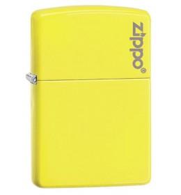 Zippo upaljač Neon Yellow Zippo Logo