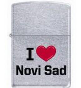 Zippo upaljač regular I Love Novi Sad 207-006448