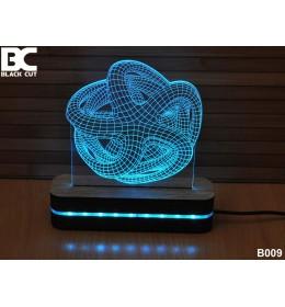 3D lampa Zvezda zelena